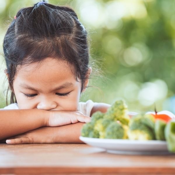 Bądź wytrwały nawet jeśli dzieci nie chcą jeść warzyw.