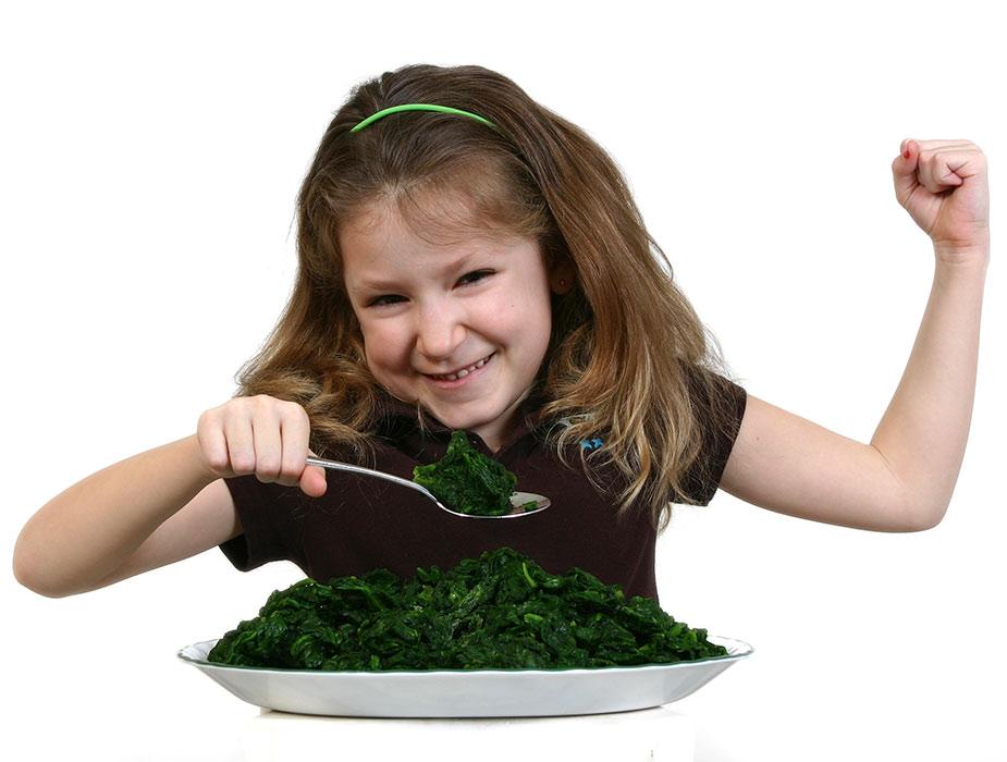 Szpinak dla dzieci
