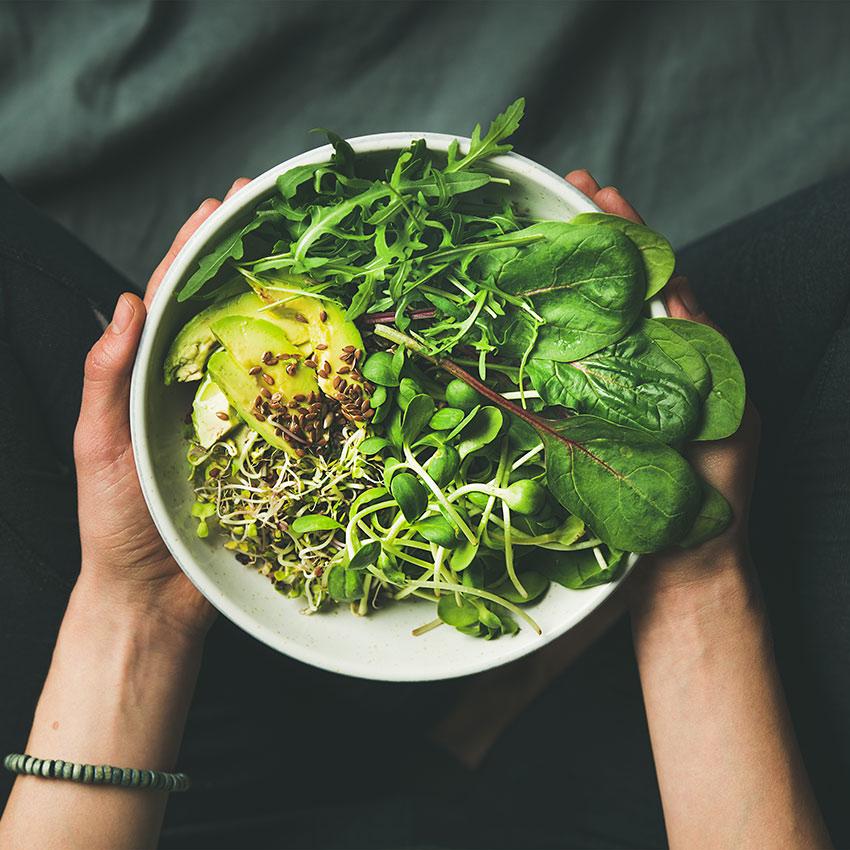 Zielone warzywa liściaste